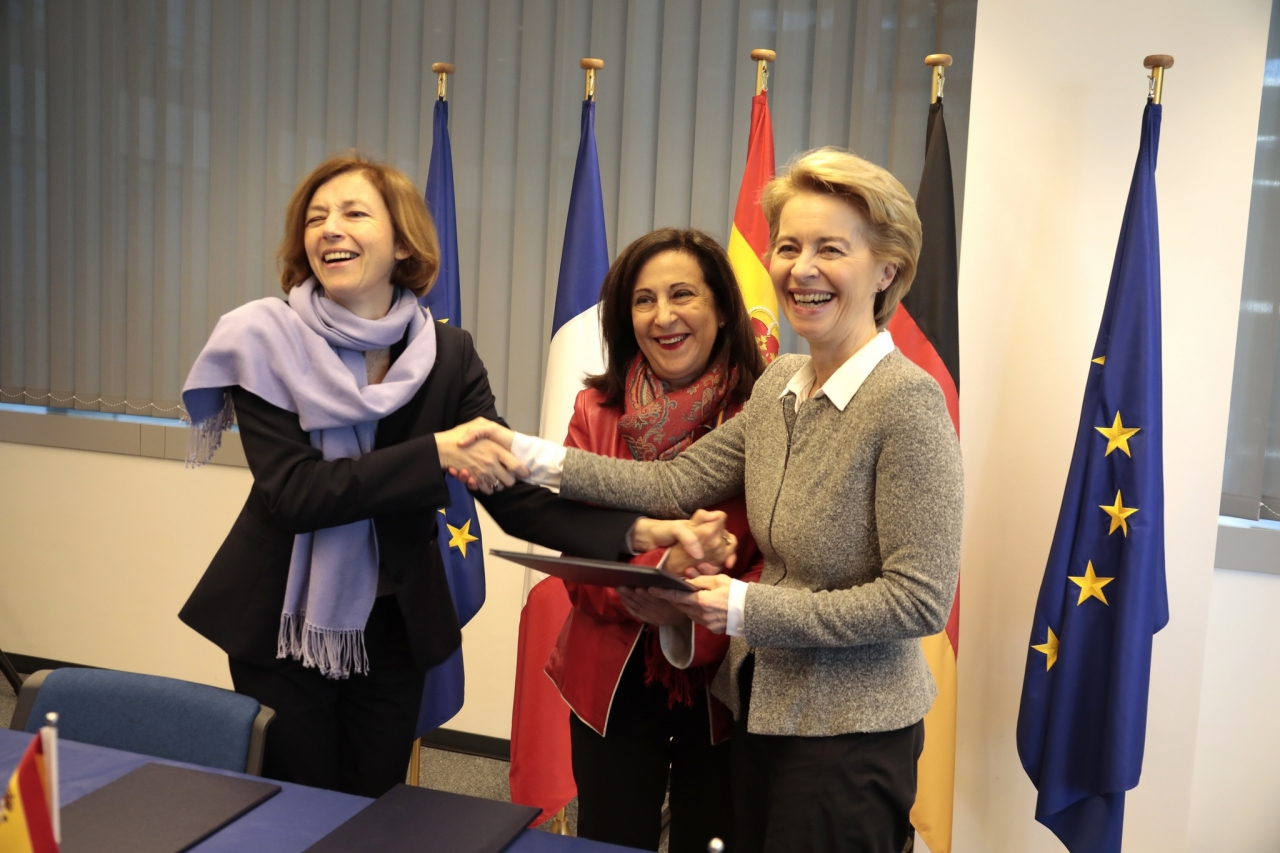 министры обороны Франции,Испании и Германии в Мюнхене подписали совместный документ,февраль2019г